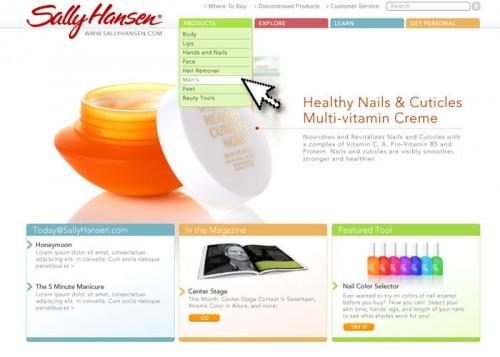 Sally Hansen Website Redesign