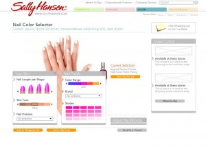 Sally Hansen Website Redesign