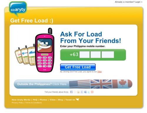 Aryty.com.ph Website Homepage