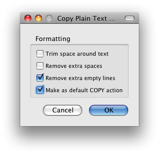 Copy Plain Text Firefox Add-on Setting