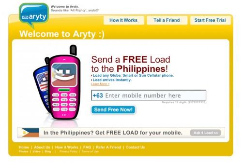 Aryty Website