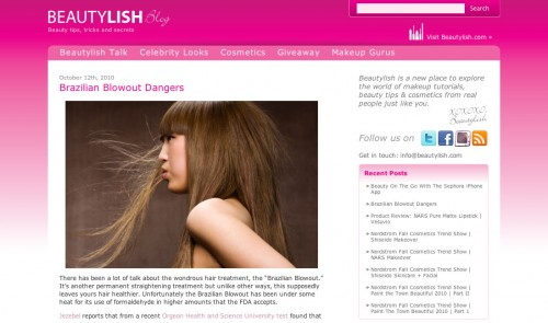 Design of the Beautylish BLog